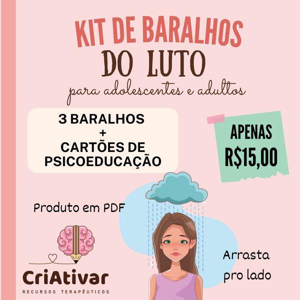 Imagem principal do produto KIT BARALHOS DO LUTO para adolescentes e adultos