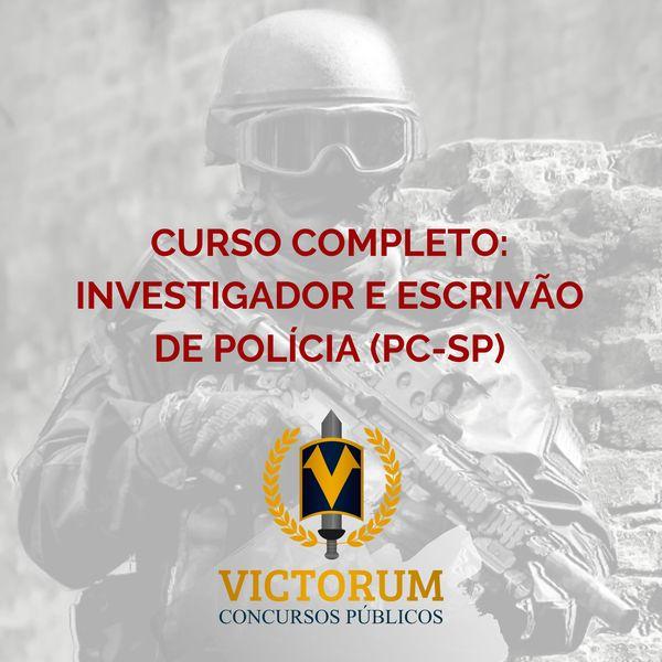 Imagem principal do produto CURSO COMPLETO: INVESTIGADOR E ESCRIVÃO DE POLÍCIA (PC-SP)