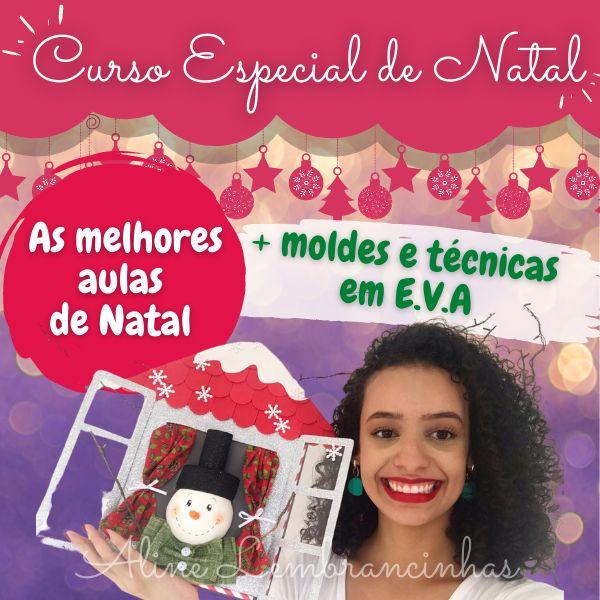 Imagem principal do produto Curso de E.V.A - Especial de Natal - Aline Lembrancinhas