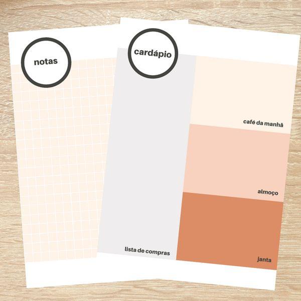 Imagem principal do produto Bloco de notas e Cardápio - Coleção de março 2021