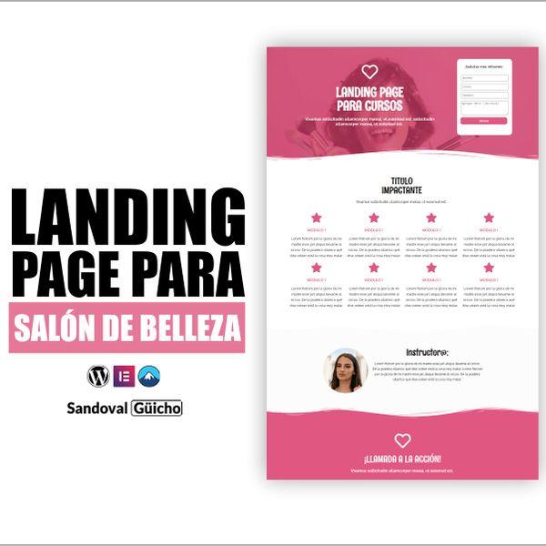 Imagem principal do produto 5.- 👉 Landing Page para Salones de Belleza - Compatibles para WordPress y Elementor.