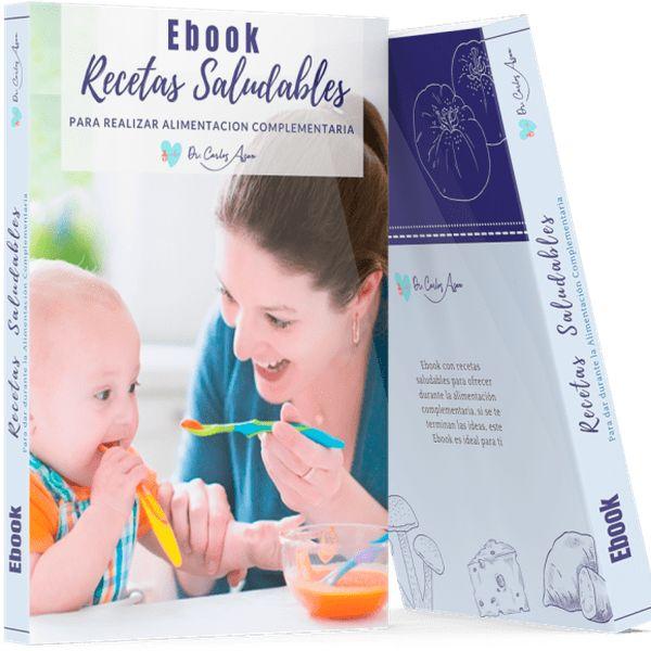 Imagem principal do produto EBOOK RECETAS SALUDABLES PARA DAR DURANTE LA ALIMENTACIÓN COMPLEMENTARIA