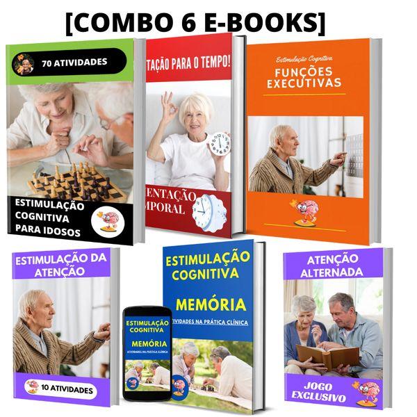 Imagem principal do produto  Combo 6 E-books de Estimulação Cognitiva para Idosos
