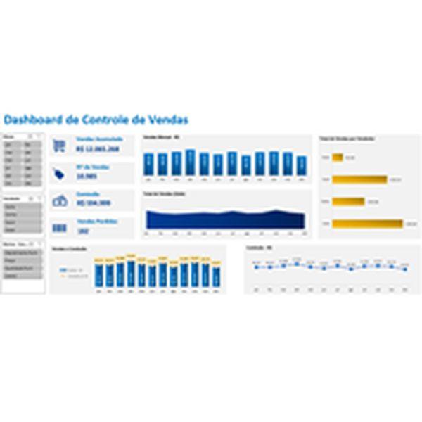 Imagem principal do produto Dashboard de Controle de Vendas em Excel