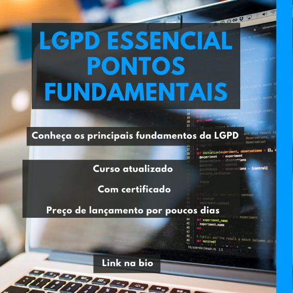 Imagem principal do produto LGPD essencial direto ao ponto