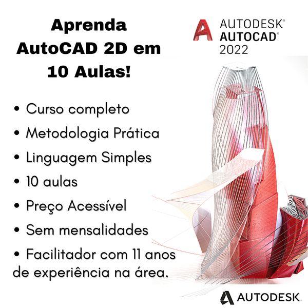 Imagem principal do produto Aprenda AutoCAD 2D em 10 Aulas!