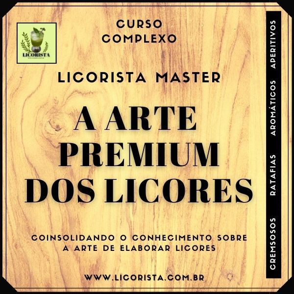 """Imagem principal do produto Curso Licorista Master """"A Arte Premium dos Licores"""""""
