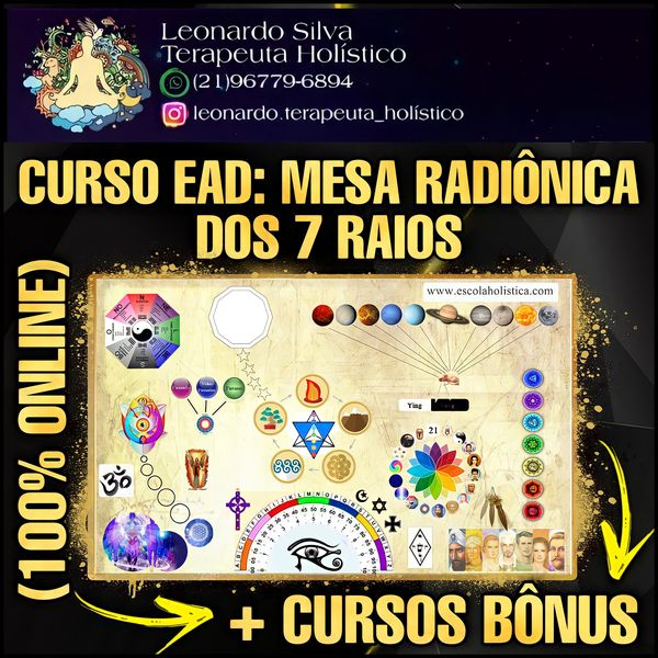 Imagem principal do produto CURSO EAD: MESA RADIÔNICA DOS 7 RAIOS