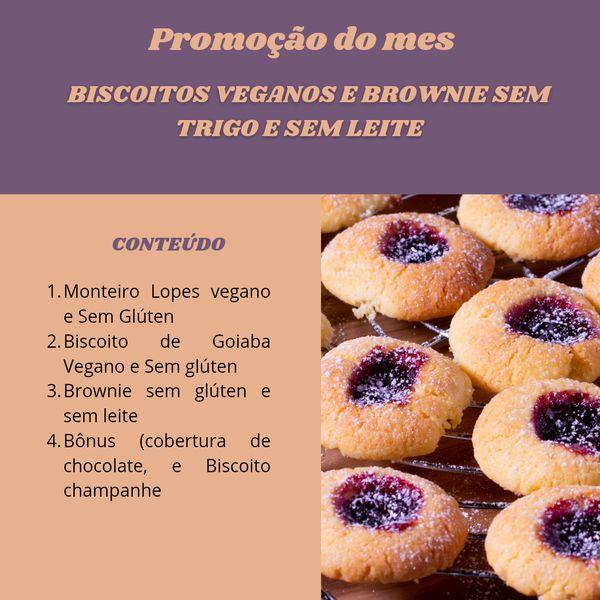 Imagem principal do produto E-BOOK de Biscoitos e Brownie funcionais e sem gluten