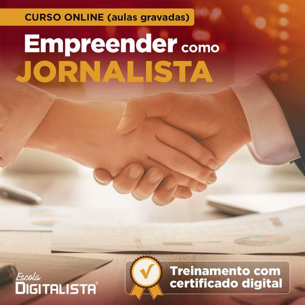 Imagem principal do produto Curso online Empreender como jornalista