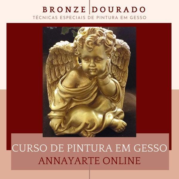 Imagem principal do produto BRONZE DOURADO - TÉCNICAS ESPECIAIS DE  PINTURA EM GESSO