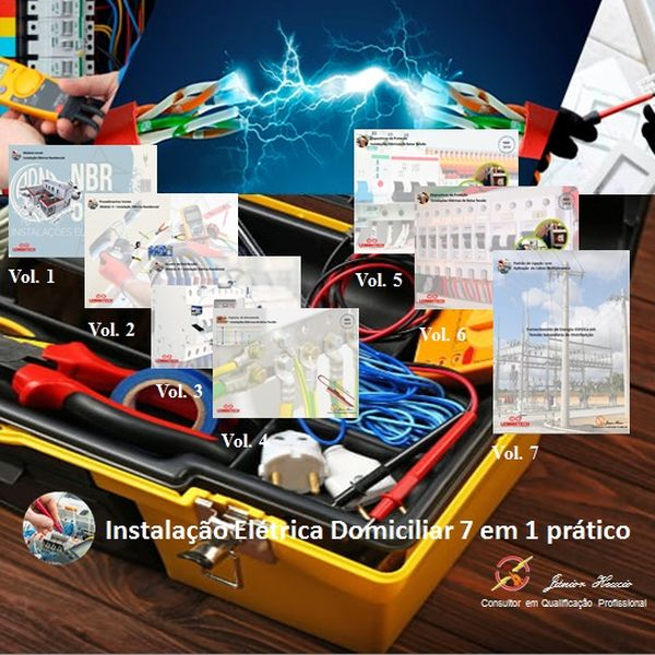 Imagem principal do produto Instalação Elétrica Domiciliar 7 em 1 prático.