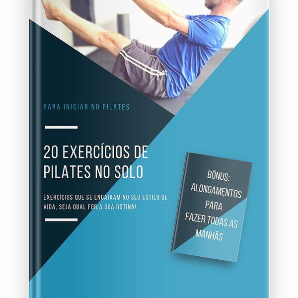 Imagem principal do produto Guia de 20 exercícios de Pilates no solo