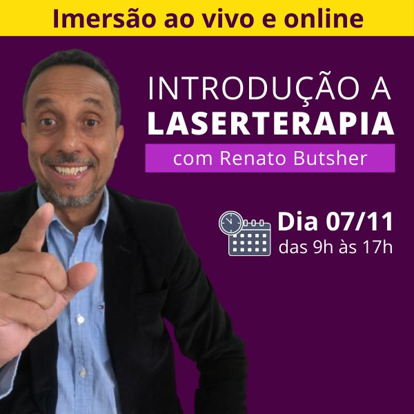 Imagem principal do produto Imersão ao vivo e online - Introdução a Laserterapia com  Renato Butsher
