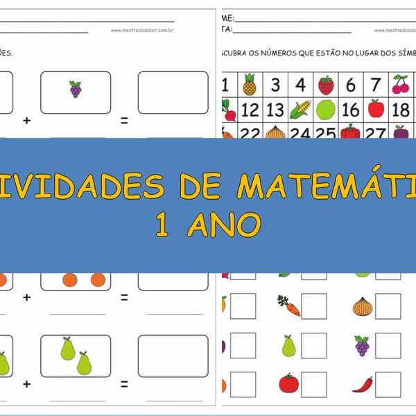 Imagem principal do produto Atividades de Matemática 1 ano