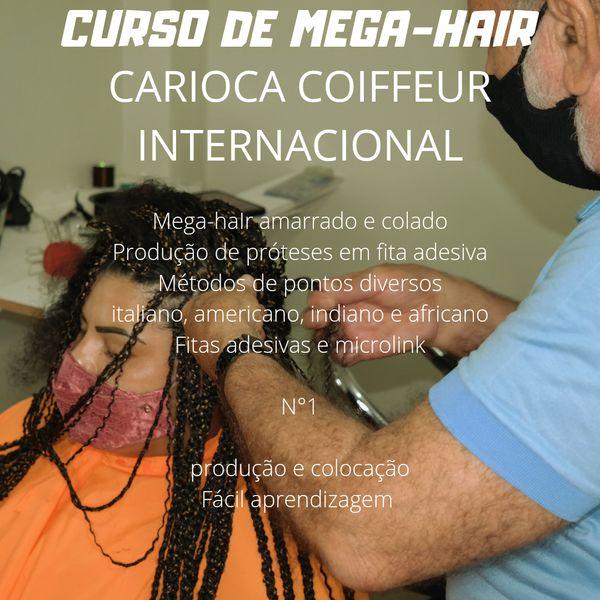 Imagem principal do produto CURSO DE TÉCNICAS DE MEGA-HAIR COM CARIOCA COIFFEUR