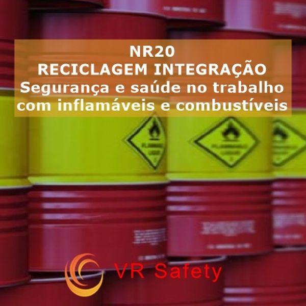 Imagem principal do produto Integração NR 20 - RECICLAGEM - SEG E SAÚDE NO TRABALHO COM INFLAMÁVEIS E COMBUSTÍVEIS