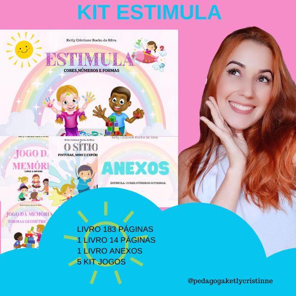 Imagem principal do produto KIT ESTIMULA : Cores, números, formas e sons.