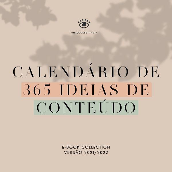 Imagem principal do produto Calendário de 365 Ideias de Conteúdo