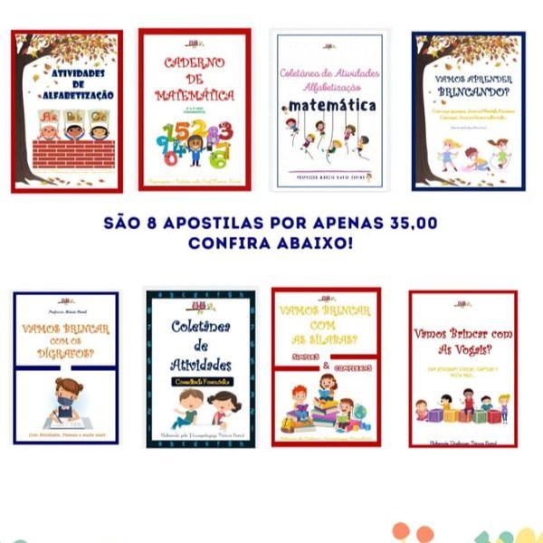Imagem principal do produto COMBO DE APOSTILAS DE ALFABETIZAÇÃO