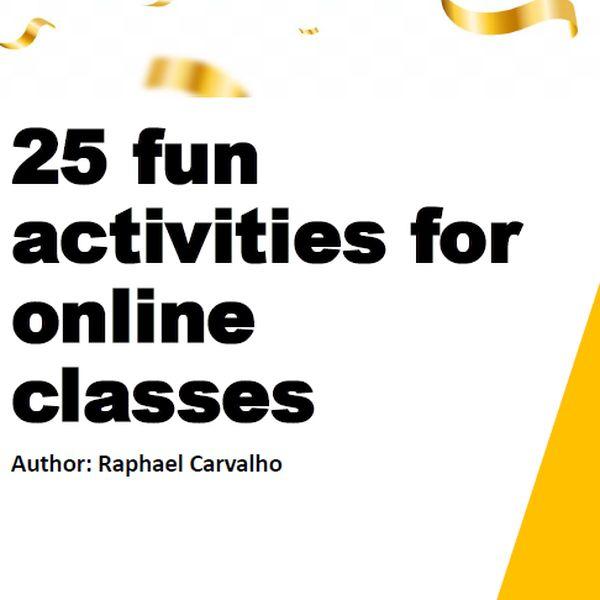Imagem principal do produto 25 fun activities for online classes