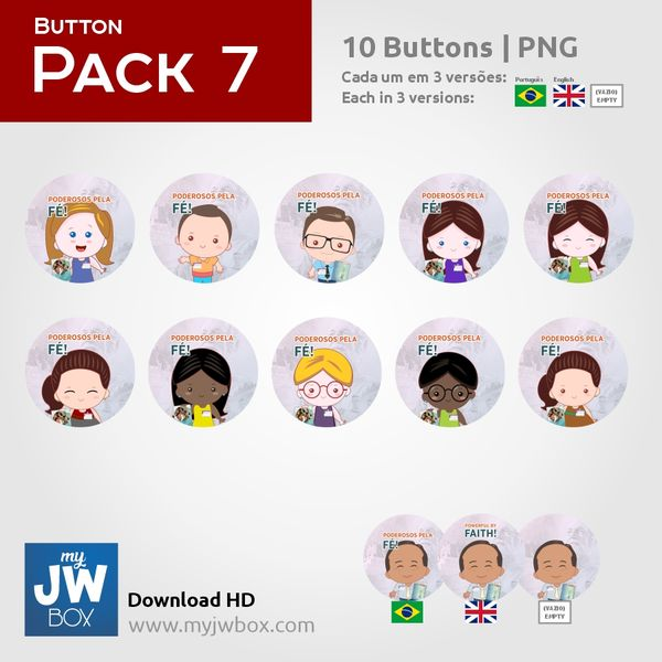 Imagem principal do produto Buttons em PNG - ButtonPack0007