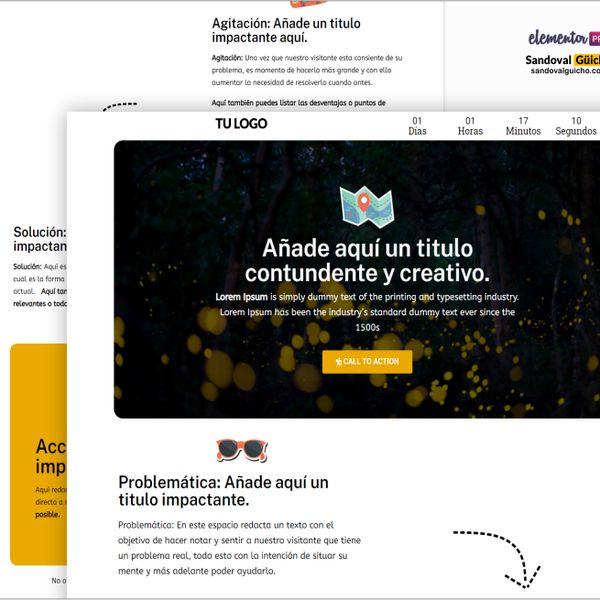 Imagem principal do produto 33-. 👉 Landing Page para Viajes y Turismo - Compatibles para WordPress y Elementor PRO.