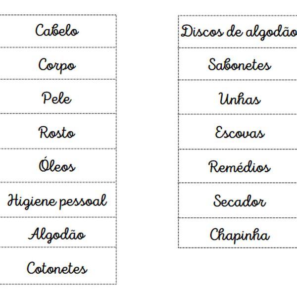 Imagem principal do produto Etiquetas Organizadoras para Banheiro e Remédios