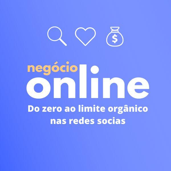 Imagem principal do produto Negócio Online - Do zero ao limite orgânico nas redes sociais