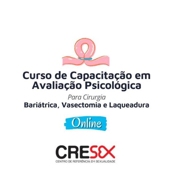 Imagem principal do produto Curso Online de Capacitação em Avaliação Psicológica para Cirurgia: Bariátrica, Vasectomia e Laqueadura