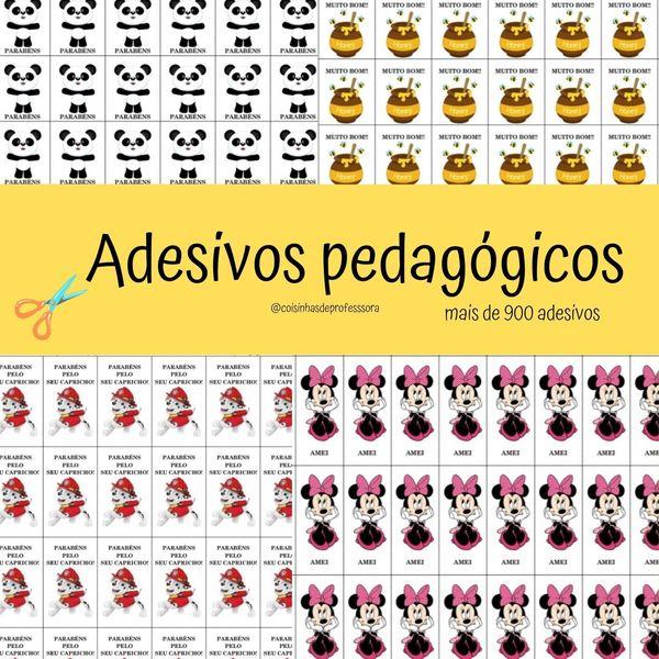 Imagem principal do produto Adesivos pedagógicos