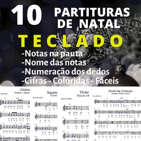 Imagem principal do produto 10 Partituras de Músicas Natalinas