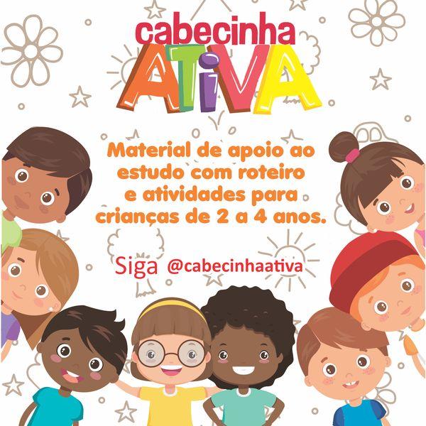 Imagem principal do produto Roteiro de aulas e atividades Cabecinha Ativa para crianças de 2 a 4 anos