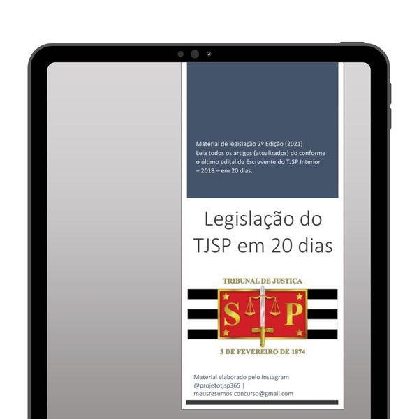 Imagem principal do produto Legislação Escrevente TJ-SP em 20 dias