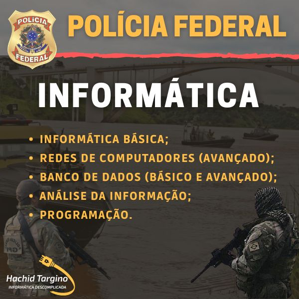 Imagem principal do produto Curso de Informática para Polícia Federal