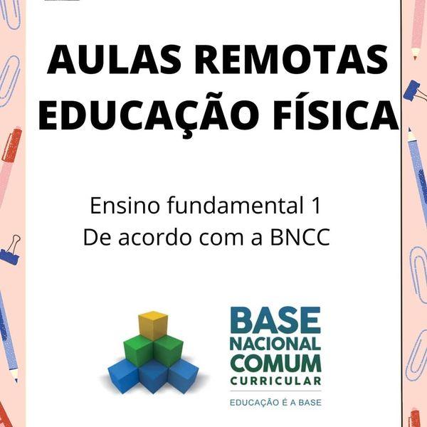 Imagem principal do produto Aulas remotas ed. fisica fundamental 1 de acordo com a bncc e codigos de habilidades
