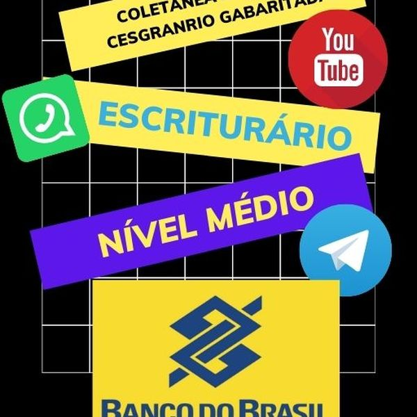 Imagem principal do produto Coletânea de Provas da Fundação Cesgranrio Gabaritadas para o cargo de Escriturário do Banco do Brasil - Nível Médio -2021.