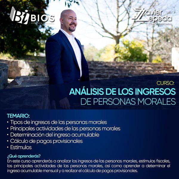 Imagem principal do produto Curso Analisis de los ingresos de Personas Morales