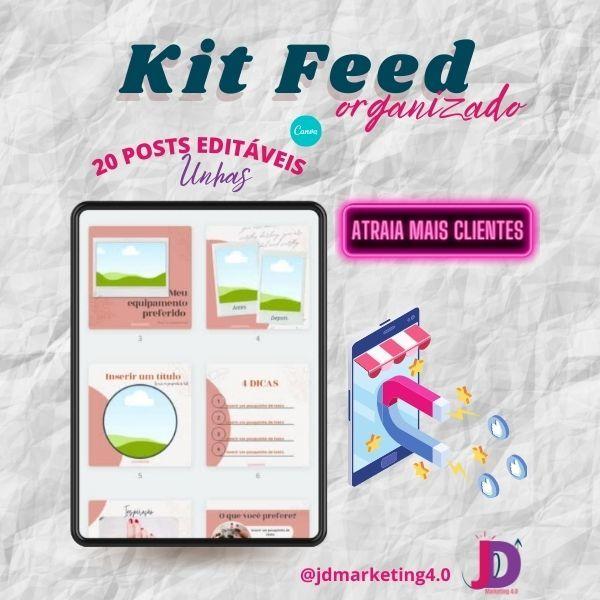 Imagem principal do produto Kit Post para Instagram Unha