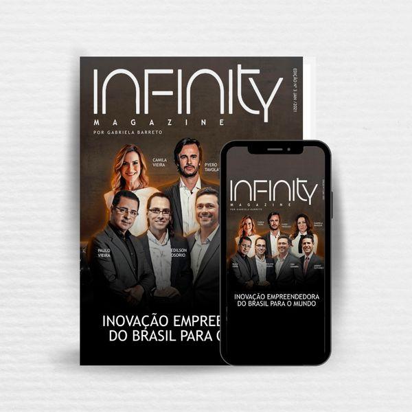 Imagem principal do produto INFINITY MAGAZINE - INOVAÇÃO EMPREENDEDORA DO BRASIL PARA O MUNDO