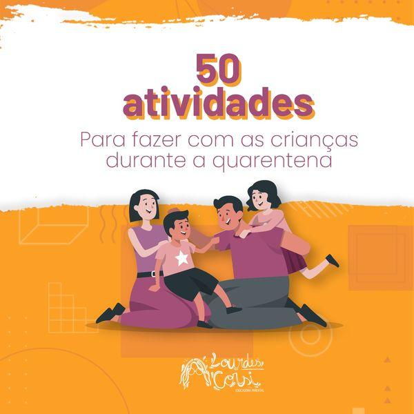 Imagem principal do produto 50 Atividades para fazer com as crianças na quarentena + Rotina visual