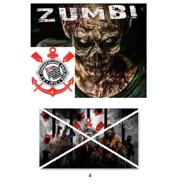 Imagem principal do produto Corinthians zumbi foto para estampar camisetas 4