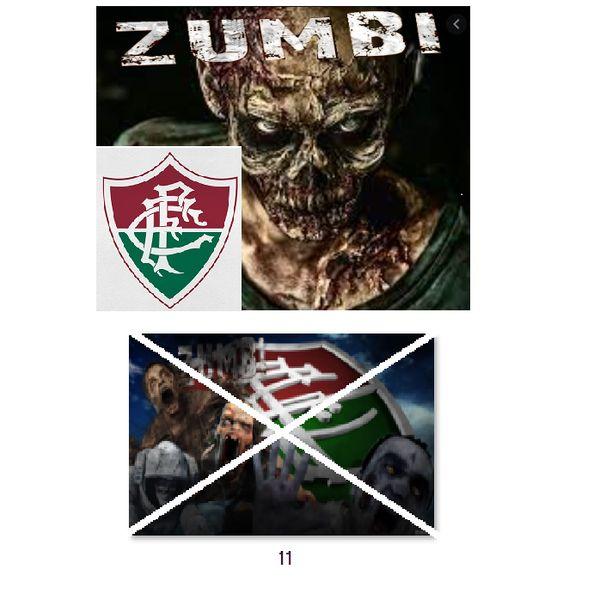 Imagem principal do produto Fluminense zumbi foto para estampar camisetas 11