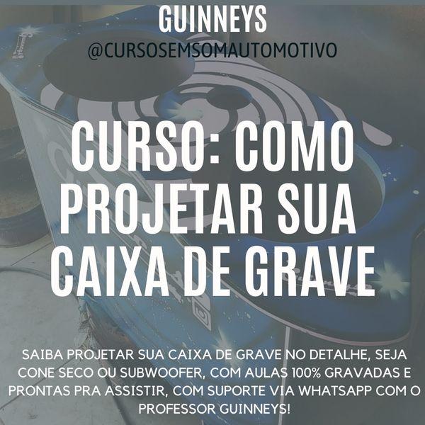 Imagem principal do produto CURSO: COMO PROJETAR SUA CAIXA DE GRAVE - DE R$: 297,00 POR APENAS R$: 67,00 😍