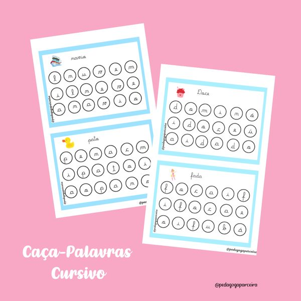 Imagem principal do produto Caça- Palavras Cursivo