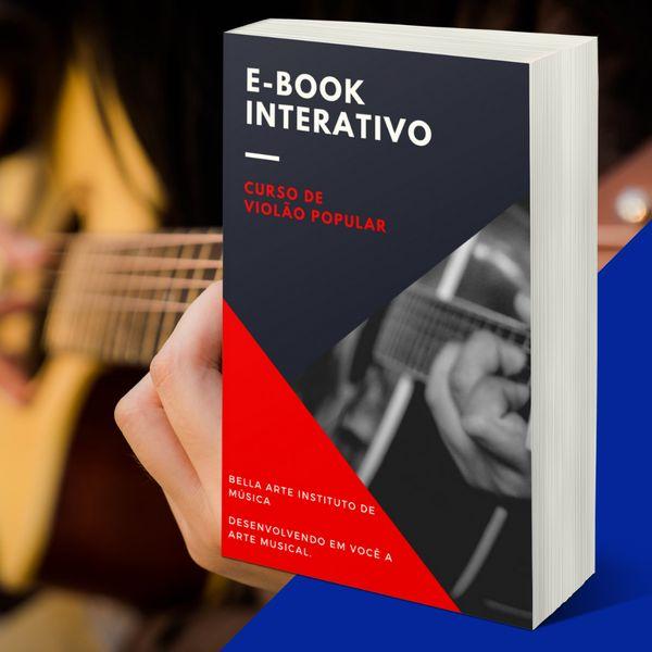 Imagem principal do produto E-BOOK DE VIOLÃO POPULAR DINÂMICO E INTERATIVO