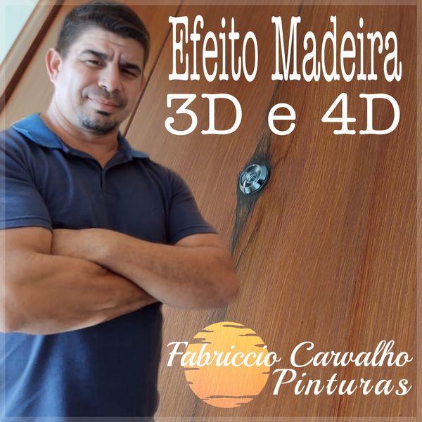 Imagem principal do produto FABRICCIO CARVALHO EFEITOS MADEIRA 3D E 4D.