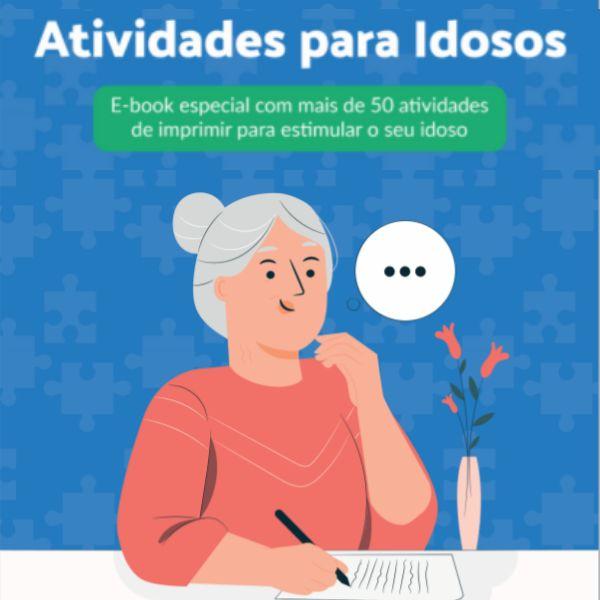 Imagem principal do produto Ebook +50 Atividades de Imprimir para Estimular os Idosos