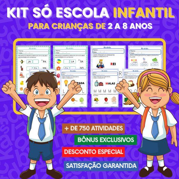 Imagem principal do produto KIT SÓ ESCOLA INFANTIL