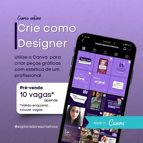 Imagem principal do produto Crie como Designer